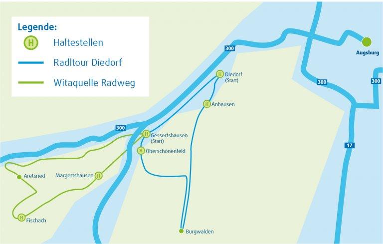 AVV-Fahrradbus Kartenausschnitt